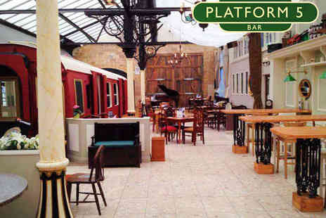 Platform 5 - Rib Eye Steak with a Glass of Wine For Two - Save 52%