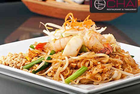I Chai restaurant - Main Course and Side Dish Each with Prawn Crackers to Share for Two - Save 65%