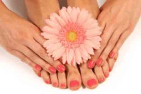 Royas holistic therapies - Shellac or gel manicure & pedicure - Save 67%