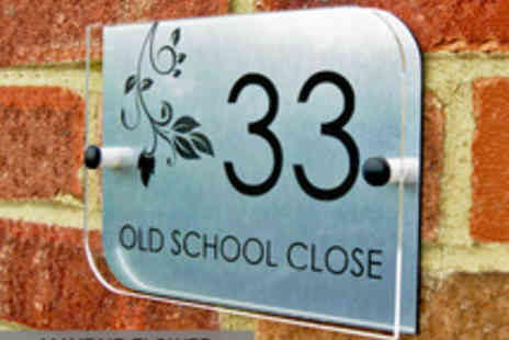 City House Signs - Personalised House Sign with a Choice of Three Designs - Save 50%
