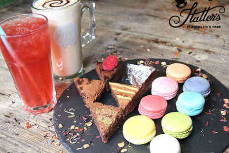 MADD Hatters Cafe - Five Brownies and Eight Macarons with a Choice of Drink Each - Save 46%