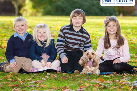 Portraiture - Family Photo Shoot On Location with Framed Photograph or Canvas - Save 90%