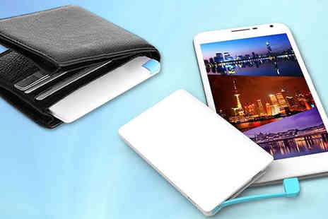 Mobile Heads - Credit Card Power Bank Smartphone Charger - Save 60%