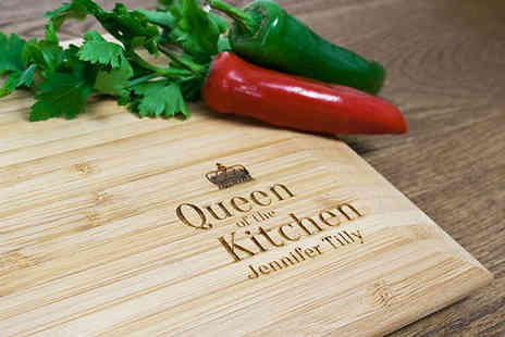Bamboo Chopping Board - Personalised Bamboo Chopping Board in a Choice of Four Designs - Save 50%