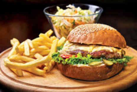 The Punchbowl - ANY Two Burgers or Hotdogs with  Fries - Save 50%