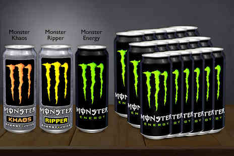 United Home Stores - 24 pack of Monster Energy drinks  - Save 54%