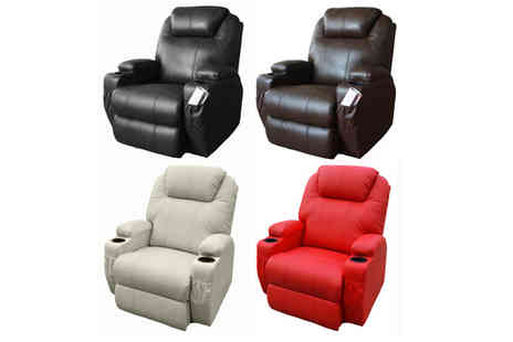 Muneer Contracting - Luxury Leather Reclining Cinema Massage Chair - Save 48%