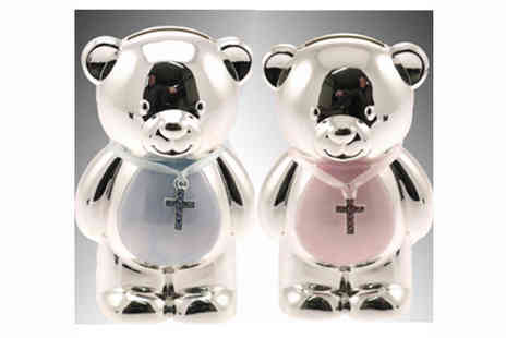 toolcollectionuk direkt2publik - Silver Plated Teddy Savings Bank Duo - Save 50%