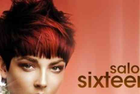 Salon Sixteen - Half Head of Highlights or Full Head of Colour With Cut and Finish - Save 60%
