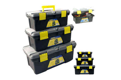 toolcollectionuk direkt2publik - Three Piece Plastic Toolbox with Removable Trays - Save 58%