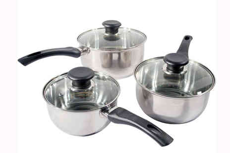 toolcollectionuk direkt2publik - 3-Piece Stainless Steel Cookware - Save 53%