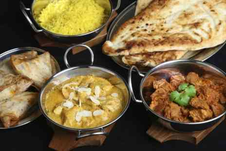 The Royal Bengal - Indian Meal With Side and Wine For Two  - Save 55%