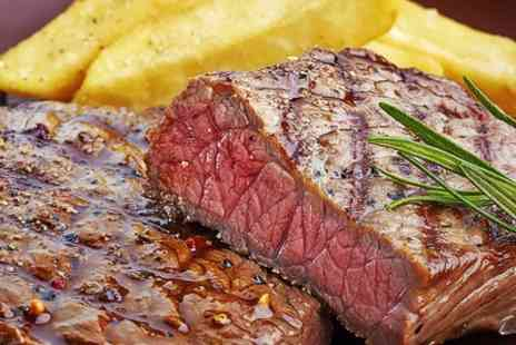 The Crown Inn - Rib Eye Steak and Wine For Two - Save 48%