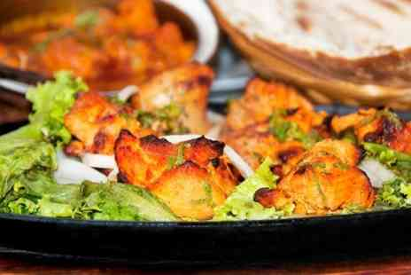 Panshi Lounge - Two Course Indian Meal With Rice or Naan For Two - Save 51%