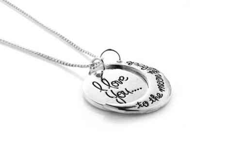 Evening Crystals - I Love You to the Moon & Back necklace  - Save 85%