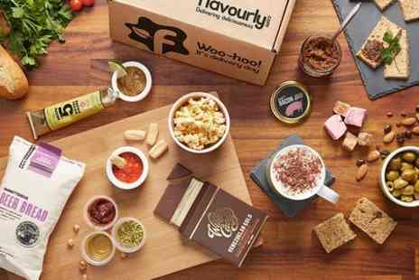Flavourly  - Deluxe Gourmet Food and Snack Box Subscription - Save 70%