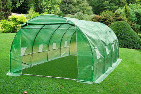 Mhstar - Greenhouse PolyTunnel With Galvanised Frame - Save 51%