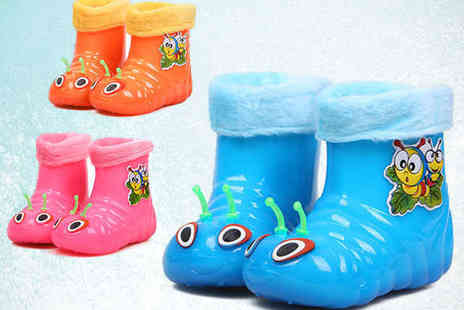 first kid shop - Childrens Caterpillar Bug Boots in a Choice of Colours - Save 60%