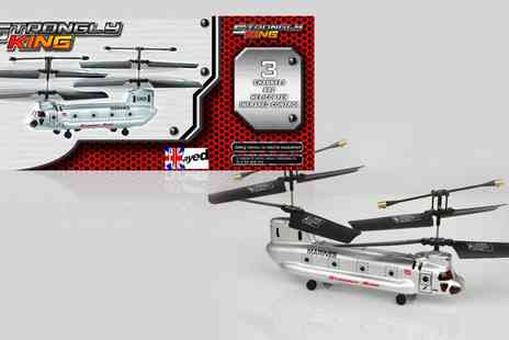 Internetshop - Silver Chinook Gyro Helicopter - Save 49%