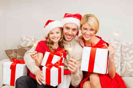 "NYC Studios - Festive family photoshoot including four 6"" x 9"" prints  - Save 97%"