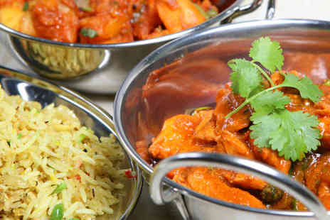 Champagne Indian Restaurant - Starter, Main Course, Side Dish, and Ice Cream Each for Two  - Save 50%