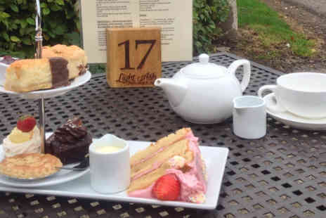 Light Ash Farm Shop - Selection of cakes plus a hot drink  - Save 50%