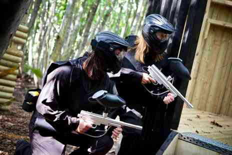 Conflict Paintball - Full day of paintballing plus lunch and 100 paintballs each for five - Save 84%