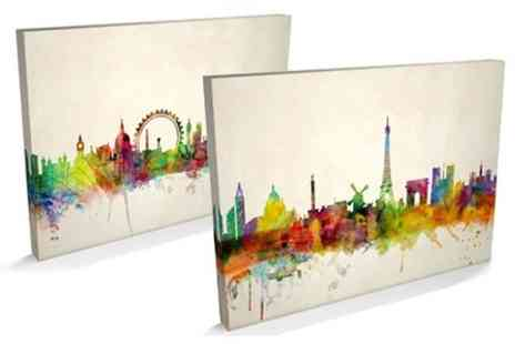 Maps International - City Skyline Canvas Prints - Save 64%
