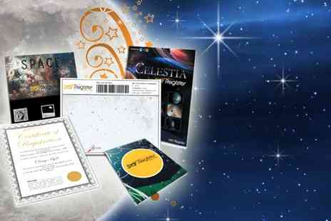 Drumcondra Ventures - Name a star gift set including constellation map & more - Save 50%