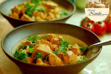 Hyderabad Nawabs - Indian Starter and Main Course Each for Two - Save 62%