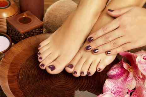 Absolute Health and Tanning - Luxury Manicure and Pedicure  - Save 50%