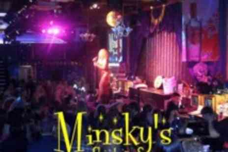 Minskys Showbar - Glass of Prosecco & show entry for two people - Save 50%