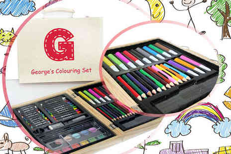 Treat Republic - Personalised Childrens Colouring Set  - Save 50%