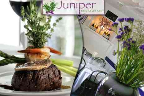 Juniper Restaurant - Eight Course Taster Menu for Two People plus Champagne Cocktail and Glass of Wine (£139 Value) - Save 65%