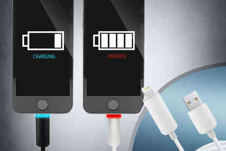 NiftySpot - LED Charging Cable for iPhone, iPad, and Android - Save 84%