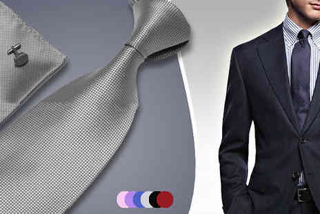 My Avarice -  Mens Silk Tie & Cufflink Set  - Save 70%