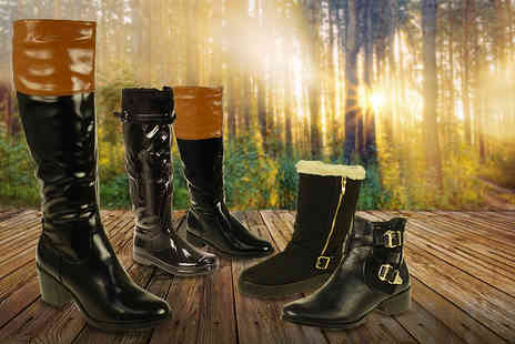 Linzi - Choice of winter fashion boots in 6 styles - Save 67%