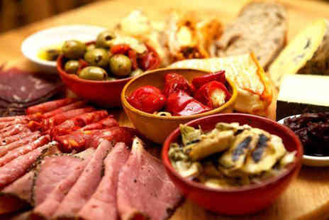 Rubino -  Italian antipasti sharing platter for 2 including two cocktails each  - Save 54%