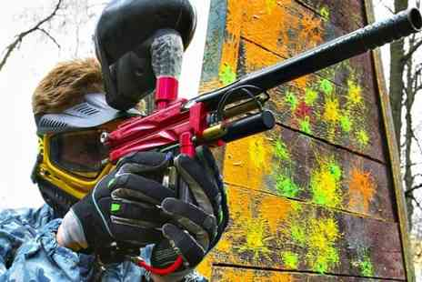 Bricketwood Paintball - Paintball Game For Up to Ten People With 100 Balls Each - Save 90%