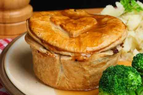 Abigails Cafe - Pie and Mash With Ice Cream Sundae For Two - Save 58%