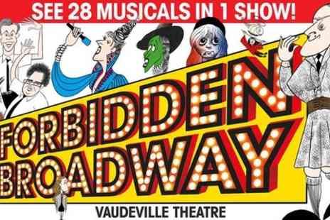 The Vaudeville Theatre - Ticket to Forbidden Broadway  - Save 67%