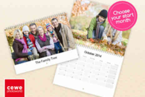 Photoworld - Personalised Wall Calendar in Choice of Sizes - Save 62%