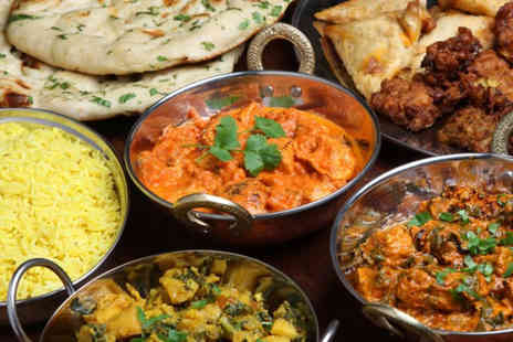 Masala Twist - Indian meal for two including sharing platter, main & rice or naan each - Save 53%