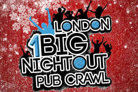 1 Big Night Outs - Ticket to 1 Big Night Outs Santa Suit Christmas Pub Crawl  - Save 50%
