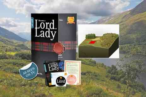 Highland Titles - Become a Lord Laird or Lady - Save 47%