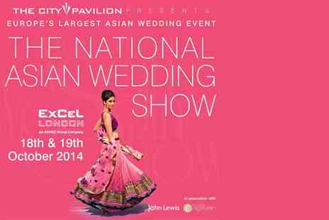 The National Asian Wedding Show - Two  tickets to The National Asian Wedding Show on Saturday - Save 55%