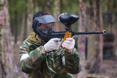 Paintball Park - Paintballing day for Five 100 paintballs & a hot lunch each- Save 90%