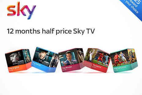 BSkyB - Up to 50% Off Voucher for 12 Months Sky TV  - Save 50%