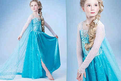 Once Upon a Time - Long Ice Blue Princess Dress - Save 79%