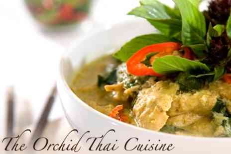 The Orchid Thai Cuisine - Two Course Thai Meal for Two with Glass of Wine for £15 at The Orchid Thai Cuisine (Up to £45.50 Value) - Save 67%